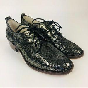 Louis Et Cie Fenn Oxford Shoes Metallic Gold 6